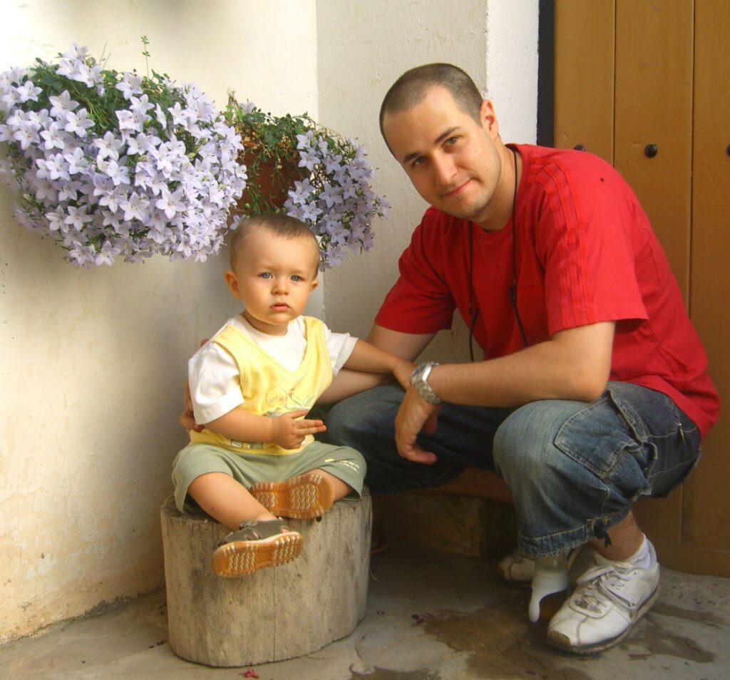 2006 con Papá. En Santa María de la Peña.